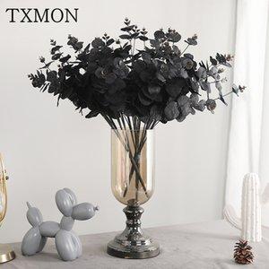 TXMON Нового моделирование 5 филиалов 20 головы украшение эвкалипта дома настольные украшения свадьбы дорога ведет искусственные поддельный цветок