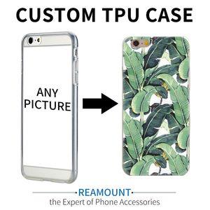 Cgjxs 100pcs Custom Design Diy Transparente Tpu caso della copertura per Iphone 7 Plus 6s 5s 7 6plus stampa su misura Cell Phone Case