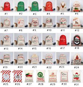 31 estilos Presente de Natal Bolsas 2020 novo saco do Natal com cordão saco com renas Saco de Papai Noel Bolsas Para Santa Sack garoto Bag EEA1868-11
