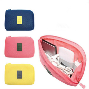 Cosmetic Bags Fashion Shockproof Travel Digital USB Charger Cable Earphone Case Creative Makeup Cosmetic Organizer Accessories Bag