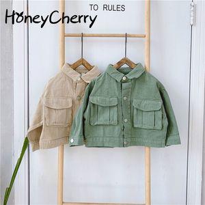 Children's Autumn Toddler Girl Jackets And Coats Clothes 2020 New Kids' Big Pocket Jacket Girls Jean Jackets Kids