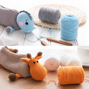 120 Meters of 40g 4 Strands of Milk Fiber Wool DIY Hand-knitted Baby Toy Doll Sweater Hat Scarf Knitted Wool Carpet