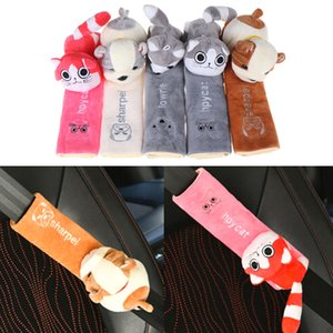 Child Seat belt Shoulder Pads Protection Plush Padding Cute Cartoon Car Sefety Seat Belt cover Auto Accessories
