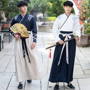 Tang Dynasty Древнего китайского костюма Hanfu платье Традиционная китайская одежда для мужчин династии Хань Длинных Одеяний танца Этап Yangko CX200818