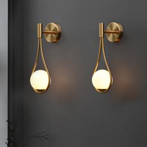 Nordico Nero Lampada da parete dorata Bianco Bianco Pianta Bedroom Bedroom Ristorante Ristorante Aisle Wall Sconce Bagno moderno Impianti di illuminazione per interni