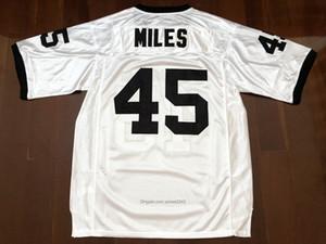 Envio a partir de US #Mens Boobie Miles # 45 Permiano Filme Friday Night Lights Football Jerseys costurado branco S-3XL de alta qualidade grátis