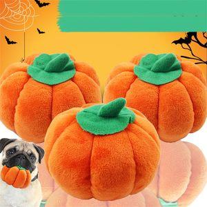 Dog Stuffed Plush Dolls Halloween mastiga enigma filhote de cachorro Brinquedos abóbora em forma de quatro Cat Squeaking Squeaky Toy Para Pet Shop Comfy 2 2GG E19