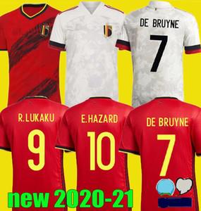 Coupe d'Europe 2020 nouveau maillot de football de Belgique 20 21 maison de maillot de pied loin E.HAZARD R. Lukaku DE BRUYNE shirt KOMPANY de football