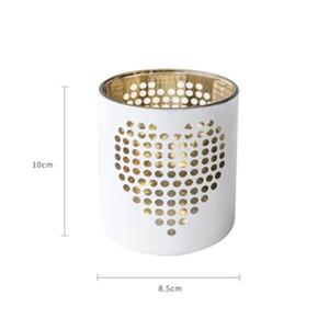 Christmas Candle Holder Modern Glass White Wedding Candle Holder Lantern Light Centros De Mesa Moroccan Decor L