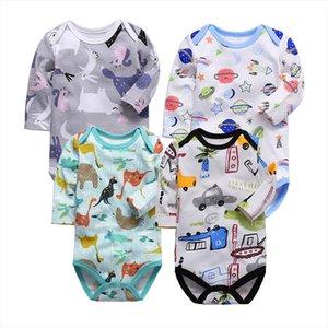 Tender bebê bebês menina de manga comprida malha unisex bebê crianças recém-nascidas jumpsuit primavera terno e bebê outono bodysuit