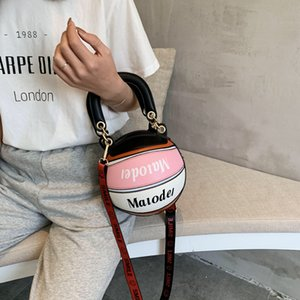 Personalizado do basquetebol Forma Bolsa de Ombro Mulheres criativo bonito engraçado Mensageiro redonda pequena Bag New Football Dropshiping