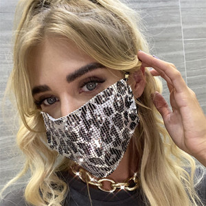 Masques bling Leopard Mesh Masques diamant Party Mask strass Grid Net Lavable creux Sexy Masque Masques