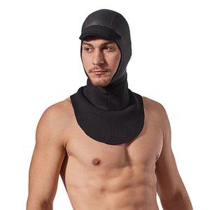 Wetsuit Dive Bib Hood 3mm Neoprene Stretch, for Water Sports in Cold Scuba Diving Cap Skin Neoprene face seal