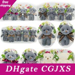 Nova Cadeia bonito urso de pelúcia boneca brinquedos 12cm Stuffed Cartoon Doll Decoração Plush Bag Pingente Linked Key Urso L595
