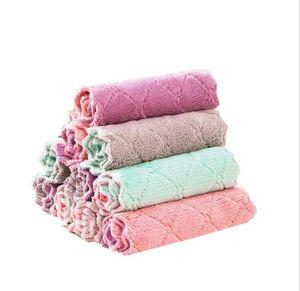 Chiffons Cuisine Plat Tissu Double Layber Absorbent Pad Décapage antiadhésif huile Stripe serviettes nettoyage de la maison Essuyage Serviette AHA836