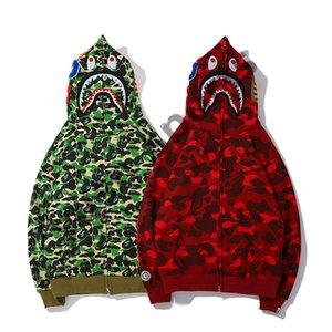 bape Hoodie t-shirt coat sweater bape01 Herren Stylist Hoodies Männer Frauen Stylist Jacke Langarm bape01 Mens-Qualitäts-Hip Hop-Sweatshirts Grün Rot