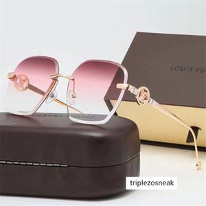 Moda Gafas de sol de calidad 20Top para el hombre mujer Erika Gafas marca de diseño Lentes Gafas de sol Matt leopardo Gradiente UV400 Box Cajas