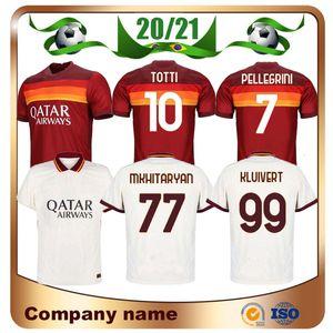 20/21 Roma DZEKO PEROTTI Soccer Jersey 2020 Rome Início Red TOTTI DE.ROSSI Futebol shirt uniformes PELLEGRINI PASTORE Shaarawy Futebol