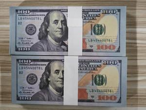 Dolaire de haute qualité props 100 nouveau film prop jeu de faux billet d'un dollar d'argent tir argent 100pcs / paquet