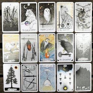 Las hojas de tarjeta de cubierta Mesa de juegos Diversión Dropshipping salvaje Tarot para el juego 78 bdesports Desconocido cartas del Tarot amantes bbyuCD