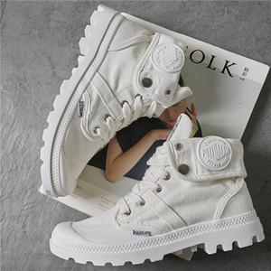 alta autunno top scarpe donna primavera e # 39s scarpe scarpe di tela spessa flangiatura stazione europea fondo Paladin donne # 39s Francese