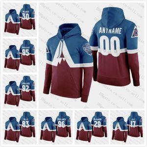 Colorado Avalanche 2020 Sédium Série Hoodie Gabriel Landeskog Mikko Rantanen Andre Burakovsky T. J. Tynan Mark Barberio Joonas Donskoi