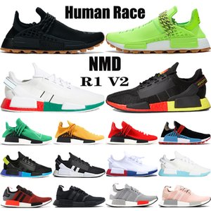 New NMD Human Race Pharrell Williams BBC Infinite Species R1 V2 Kern schwarz Carbon rot triple weißen Männer Frauen Turnschuhe Laufschuhe