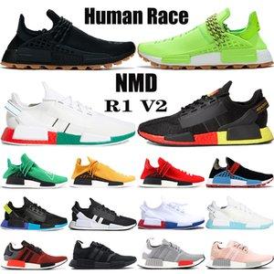 새로운 NMD 인간의 인종 퍼렐 윌리엄스 BBC 무한 종 R1 V2 코어 카본 블랙은 신발을 실행 트리플 백인 남성 여성 운동화 빨간색