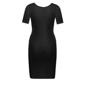 Women pregnancy dress Sexy Ruched Maternity Bodycon Dress Fashion Sleeveless Wrap Casual Buttock Dress pregnant woman clothes