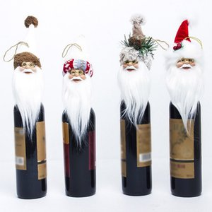 Santa Claus Shape Wine Set Christmas Tree Toppers Home Decor Ornaments Christmas Tree Decor Cute Kids Gifts.,