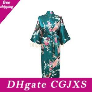 Plus Size Xxxl donne cinesi raso Robe Gown Geisha giapponese Yukata kimono da sposa dell'abito indumenti da notte sexy camicia da notte Fiore D124 -06