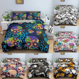 Fashion Home Textiles 3D Printed Duvet Cover Bedclothes 2 3PCS Skull Bedding Set Single Twin Double Full Queen King Size