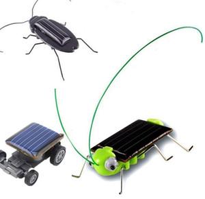 Educational Solar Powered car cockroach locust Power Robot Bug educational gadget Toy for children Christmas gift KKA8019