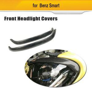 Para Benz Smart Forfour Fortwo 16-19 farol front pálpebra fibra de carbono sobrancelha