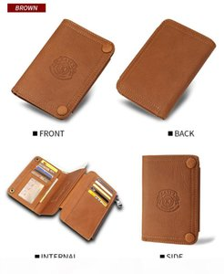 mens designer wallets Exploded mens wallet multi-functional 3-fold ultra-thin purse Multi-card practical bag Genuine leather high quality