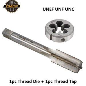CMCP 2pcs UNEF UNF rosca UNC roscado fijado para el funcionamiento del metal HSS Máquina Mano Toque Broca Imperial y muera Tornillo