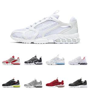 أعلى جودة الرجال المرأة الاحذية الرمالStussy Nike Air Zoom  Habanero الأحمر سبيريدون قفص الثلاثي الأبيض النقي البلاتين الرياضة في الهواء الطلق أحذية حجم 36-45