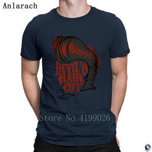 Devil's Hair Cut T Shirts Standard Creative Tee tops tshirt for men Crazy Spring clothing Anlarach Humor