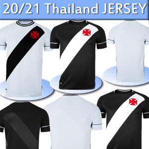 20 21 Clube Vasco da Gama Casa Fora de Futebol 2020 2021 MAXI RIOS PAULINHO FABIANO MURIQ Personalizado Preto Branco Football Shirt Tailândia
