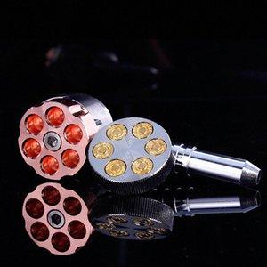 Revolver Rohr Six Shooter Pfeife 11cm Rauchtabak 6 Kugeldrehrohr Grinder Rauchpfeifen VS KEGEL ARTIST mjBq #