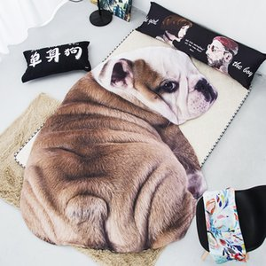 New Home Textile Air conditioning 3D Cute Dog Cat Soft Bedspread apply Kids Adult Throw Sofa Warm Irregular Blanket Summer Quilt