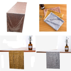 Kitchen Accessories Table Cloths Banquet Flag Runner Sequins Covers Encryption Mediterranean Sea Modern Style Party Decorate 13xw F2