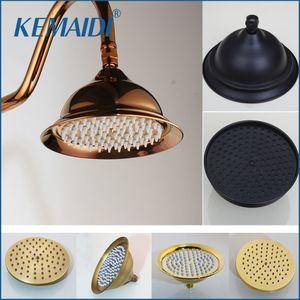 Kemaidi latón lluvia cabezal cabeza forma redonda 8 -inch lluvia cuarto de baño cabezal de ducha ducha ducha de baño cabezal de ducha sin brazo y200109