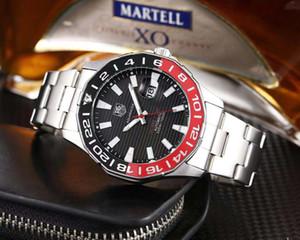 Marka Otomatik takvim kuvars Etiket İzle Paslanmaz çelik Kayış Erkek İş Casual Calibre 36 Moda Saatler Reloj Carrera saatı