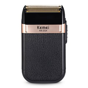 Kemei Rasoio elettrico ricaricabile USB per Uomo Twin Blade alternativi Cordless rasoio dei capelli della barba Rasatura MachineBarber Trimmer