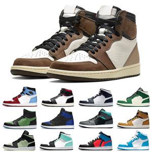 nike air jordan 1 retro sapatos Top 3 Jumpman 1 Mens Basketball quebrado encosto UNC 1s Cactus ouro Jack Banido Toe Bred Tokyo Homens Mulheres formadores Sneakers Desporto