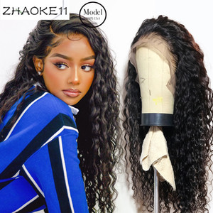 eullair 360 Lace Frontal Wig 30 inch Deep Wave Wigs 4x4 Lace Closure Wig 13x6 13x6 Lace Front Wig Pre Plucked Human Hair Wigs
