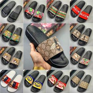 [Avec Box] Femme Homme Chaussons Slides sandales plates Tongs Chaussures d'été Mode Slip Pantoufles Designer Beach chaussures Chambre de GFFF0099
