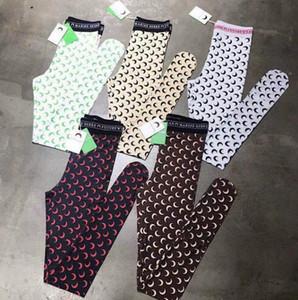 20SS Loog manga marina que basa la Serre mujeres de la camiseta de alta calidad de superposición La mitad de las polainas de la luna de yoga pantalones ajustados Top Tees camiseta de la muchacha