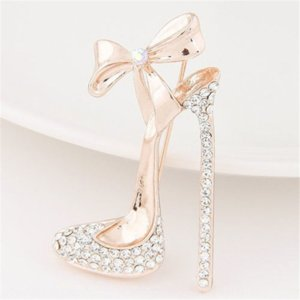 JMST4 style coréen arc bijoux diamant shoesaccessories haute à talons hauts talons haut talons hauts chaussures Broche polyvalent accessoires femmes Broche
